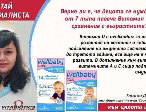 Витамините – важна част от детското развитие